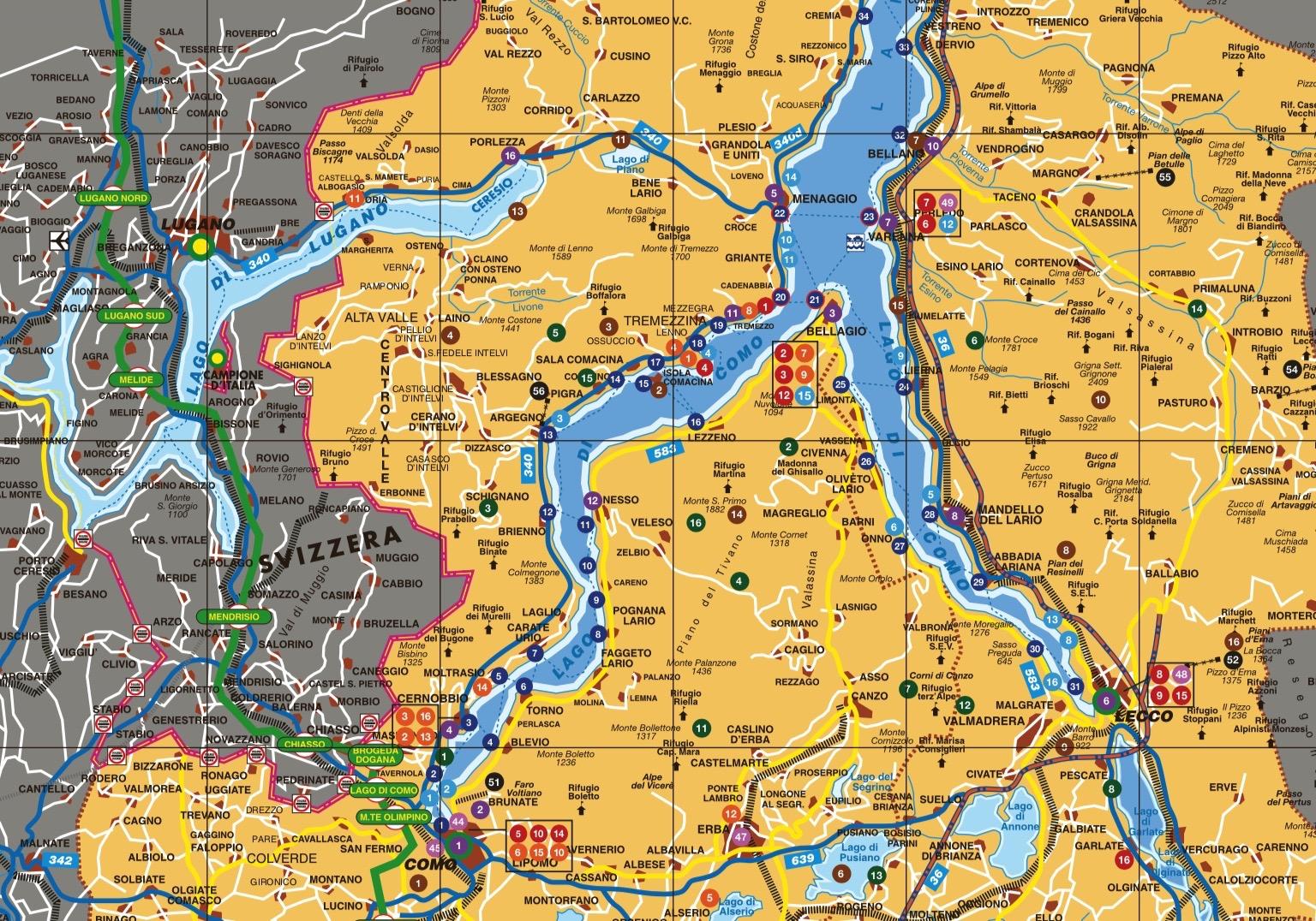 Cartina topografica Lago Di Garda